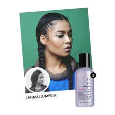 For ultra-sleekness, hair stylist Jahmai Lumpkin combs through a little SudzzFX Zenyth Frizz Eliminator serum. @jahmonit   Goo Salon, Los Angeles