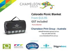 Colorado Picnic Blanket - Chameleon Print Group  http://chameleonprint.com.au/product/colorado-picnic-blanket/