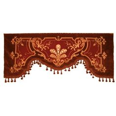 363: VICTORIAN VELVET PORTIERE VALANCE : Lot 363 ❤ liked on Polyvore featuring home, home decor, window treatments, curtains and victorian home decor
