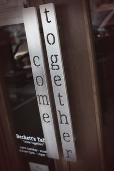 Front door handles, Beckett's Table, Phoenix AZ