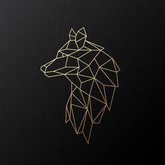 Geometrischer Goldwolf Geometrischer Goldwolf - Geometrischer Goldwolf Geometrischer Goldwolf Sie sind an de - Geometric Wolf Tattoo, Geometric Drawing, Geometric Lines, Geometric Designs, Geometric Tattoo Animal, Tattoo Abstract, Gold Drawing, Geometric Sleeve, Tribal Sleeve