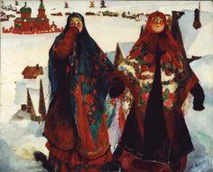 Картины русского художника Филиппа Малявина / Крестьянки, 1925
