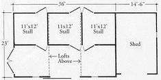 StableWise Gallery - Three horse barn layout