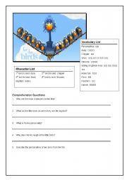 English worksheet: For the Birds Pixar Short For The Birds Pixar, Pixar Shorts, Irish Language, English Resources, Vocabulary Worksheets, New Class, Reading Strategies, Esl, Homeschool