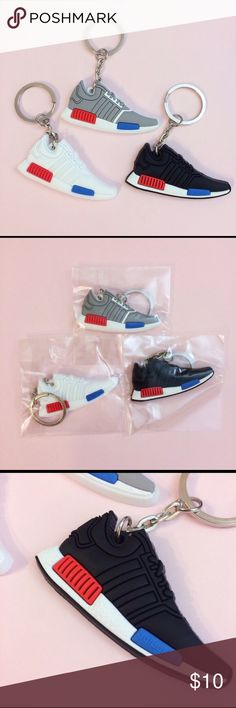 Adidas NMD Mini 2D Sneaker Keychain **3 colors Up for grabs are brand new adidas nmd sneaker keychains!!! 3 colors to choose from total of 5 each color available first come first serve! Adidas Accessories Key & Card Holders