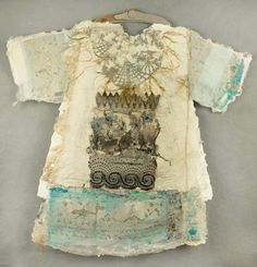 """Ceremony, 2008  Handmade Paper w/inclusions, mounted with antique frame   44""""W X 45"""" H Collected"""