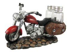 SPICY RIDER Retro Motorcycle Salt & Pepper Shaker Set  http://bikeraa.com/spicy-rider-retro-motorcycle-salt-pepper-shaker-set/