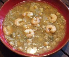 Soupe complète de quinoa aux crevettes