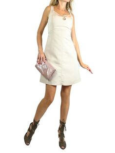 BLUE GIRL Beige Sleeveless Classic Dress. 44 $150 http://www.boutiqueon57.com/products/blue-girl-beige-dress-42