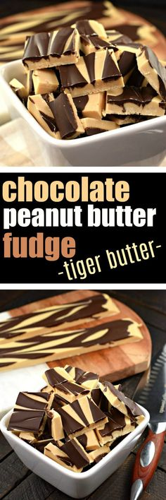 Tiger Butter Fudge #swirled #chocolate #peanutbutter #candy #confections