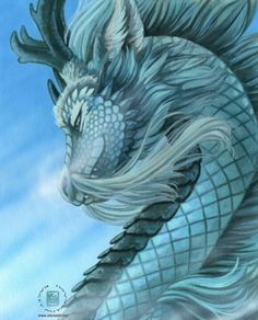 Blue dragon, dragon azul