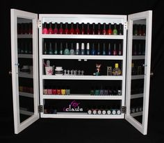 Nail Polish Cabinet - Bead, craft supplies, nail polish storage | FoxClaws - Furniture on ArtFire
