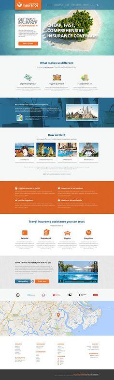 Template 52441 - Insurance Travel Responsive WordPress Theme