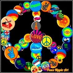 ☮ American Hippie Art ~ Peace Sign Pins