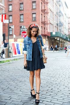 2013 Bag:Rebecca Minkoff;  Necklaces:Old/Denim Jacket:Zara /Wedges:Collage Vintage x Krack