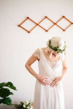 Photography: Her And Everything - www.herandeverything.com Read More: http://www.stylemepretty.com/2015/05/14/intimate-portland-waterfall-elopement/