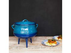 If you are looking for something a little different from the standard black potjie pot, this colourful enamel alternative is sure to brighten up your braai area Open Fires, Cast Iron Cookware, Enamel, Daddy, Alternative, Surface, Construction, Color, Black