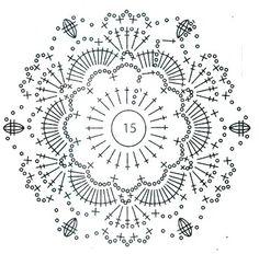 Схема. Crochet Bedspread Pattern, Crochet Snowflake Pattern, Crochet Coaster Pattern, Crochet Snowflakes, Crochet Flower Patterns, Crochet Diagram, Crochet Chart, Crochet Squares, Filet Crochet