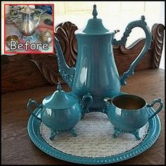 Silver Plated Tea Set Makeover