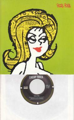 "Cheap Trick / Baby Talk / Brontosaurus / Rare 7"" Vinyl 45 RPM Record / Sub Pop"