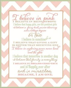 Free printable pink and green nursery wall art with inspirational baby girl quotes and sayings that any mom-to-be will appreciate.