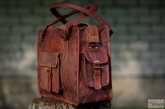 """Handmade Travel Bag 16"""" / Carry Bag / Messenger Bag / Cabin Travel Bag / Cross Body Bag / Handbag / Satchel / Shoulder Bag / Briefcase on Etsy, $94.00"""