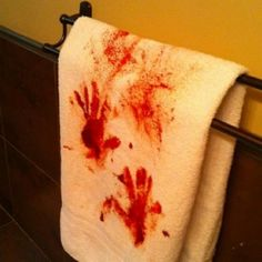 Last Minute Murder Scene Towel for the Bathroom.