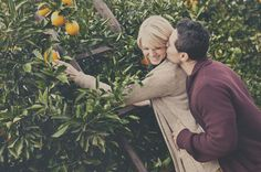 cute engagement photo! could use this at the apple farm where we go every year!