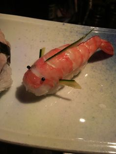 Japanese Koi Fish (Carp) Shaped Shrimp Sushi