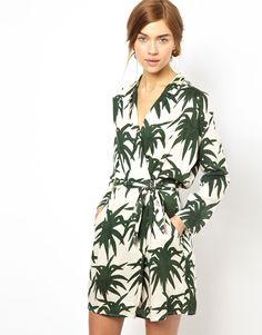 Dress in Jungle Palms Print