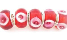 Red Orange with White and Pink Accents by AuntAnniesAntics on Etsy, $3.99
