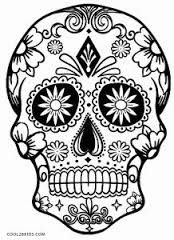 """Résultat de recherche d'images pour """"coloriage tete de mort mexicain"""""""