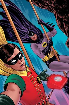 Batman '66 selfie cover by Joe Quinones