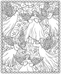 Creative Haven ChristmasScapes Coloring Book