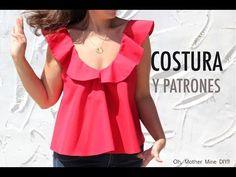 DIY Costura de blusa de mujer con volantes (patrones gratis) | Manualidades