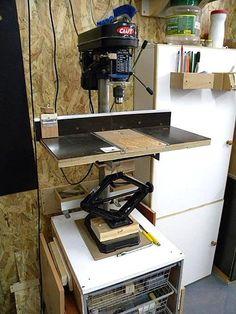 Drill Press Station - Table/Lift/Fence/Vise/Drum Sander