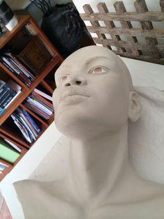 Ceramic sculpture in progress. Moving To Miami, Sculptures, Faces, Vibrant, African, Ceramics, Art, Ceramica, Art Background