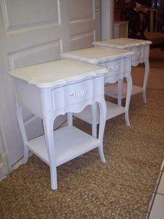 Painted french provincial nightstand