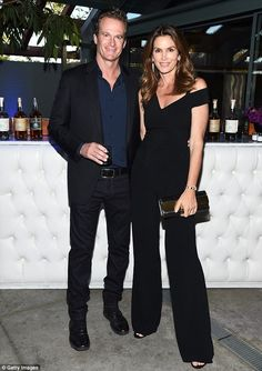 Timeless couple: Cindy Crawford, 50, and Rande Gerber, 54, stepped out in style for the Champion of Children Awards Gala at the Malibu Jewish Center on Friday