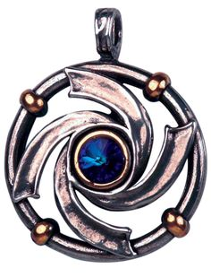 Lotus Plantation - Vortex Pendant, $23.99 - These striking pendants are made from highly polished pewter and are enhanced by gold plating and embellished with Swarovski crystals.(http://www.lotusplantation.com/vortex-pendant/)