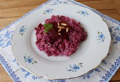 Rote-Bete-Rotwein-Risotto