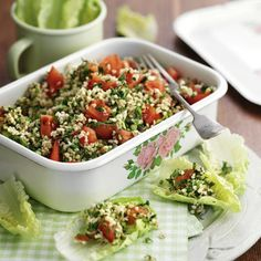 Tabbouleh salad. Click the picture for the full recipe, or for more like this visit Redonline.co.uk