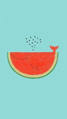 cute, summer, tumblr, wallpaper, watermelon