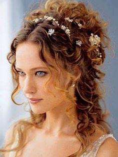Curly Braut-Frisur