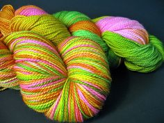 Hand dyed yarn from Girl Gone Loopy