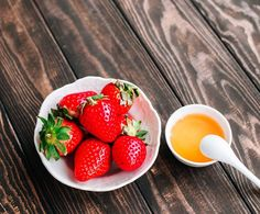 """Check out this simple and delicious Strawberries and Honey recipe that was published in """"The Roanoker."""" Article written by Becky Ellis. Dessert Dishes, Desserts, Extra Recipe, Sweetened Whipped Cream, Fresh Market, Honey Recipes, Chocolate Strawberries, Strawberry Recipes, Balsamic Vinegar"""