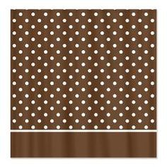 Brown with White Dots 2 Shower Curtain > White Dots > MarloDee Designs Shower Curtains