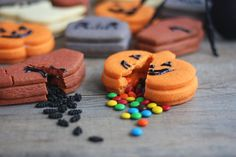 Trick-or-Treat Cookies, with a surprise inside. Detail.