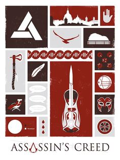 Assassin's Creed Ezio Altair Video Games Poster by jefflangevin, $15.00