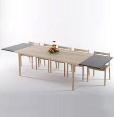 Model No Dining Table Designer: Niels Otto Moller Manufactured by: J. Moller Dimensions (in): w Dining Room Table, Dining Bench, Danish Design Store, Cafe Tables, Table Furniture, Restaurant, Model, Extensions, Home Decor